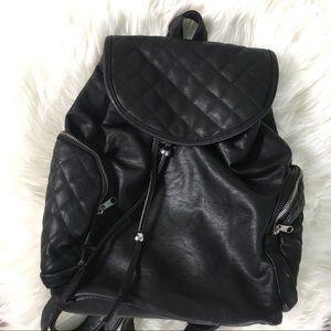 Handbags - Vegan Leather Black Backpack Purse